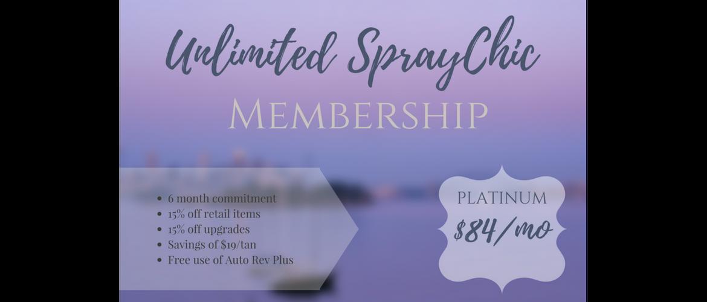 Unlimited Custom Airbrush Spray Tanning Platinum Membership