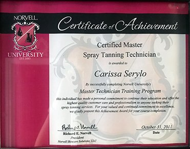 Norvell Master Certified Spray Tanning