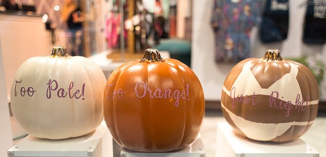 Spray Tan Pumpkins - Too Pale, Too Orange, Just Right